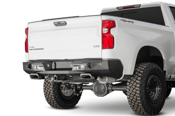 ADD R441051280103 GMC Sierra 1500 2019-2020 Stealth Fighter Rear Bumper with Exhaust Tips and Backup Sensors
