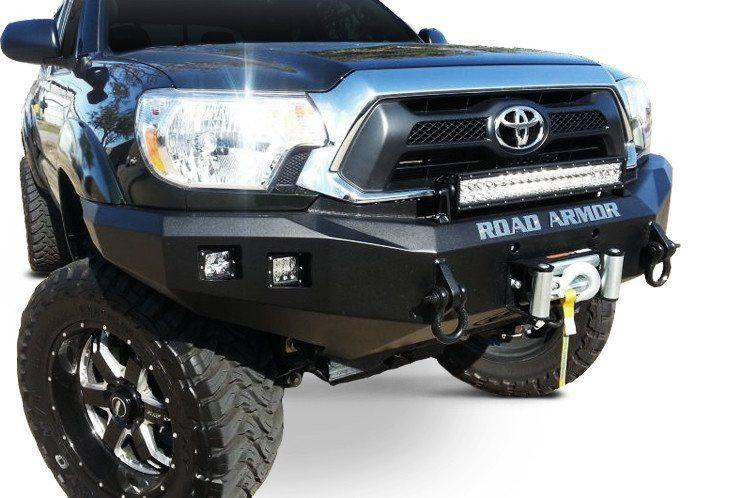 Toyota Tacoma Front Bumper >> Road Armor 905r0b 2012 2015 Toyota Tacoma Stealth Winch Front Bumper