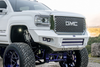 Bodyguard GAG11BN2T GMC Sierra 2500/3500 2011-2014 A2L Base Front Bumper No Sensor Cutouts Double Light Bar Cutouts