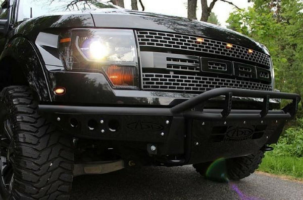 ADD F014122670103 Ford F150 Raptor 2010-2014 Race Series Front Bumper Multiple LED Light Mount Hammer Black - BumperOnly