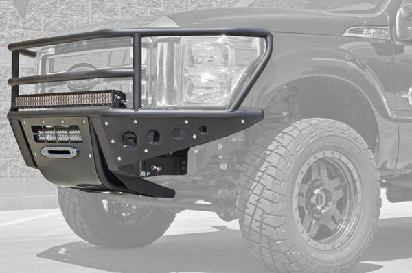 ADD F062772400103 2011 - 2016 Ford F-250/350 Rancher Front Bumper With Stealth Panels And Winch And Light Bar Mounts - BumperOnly