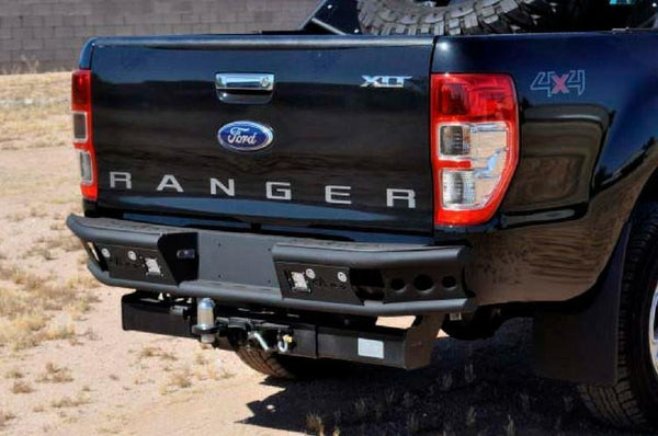 ADD R252291280103 2011 - 2016 Ford Ranger T6 Dimple R Rear Bumper With Back Up Sensor Cut Outs - BumperOnly