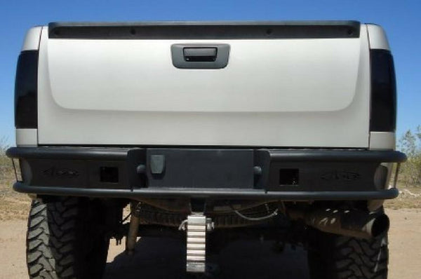 ADD R4023012801NA GMC Sierra 2500/3500 HD 2007.5-2010 Dimple R Rear Bumper With Light Mounts - BumperOnly