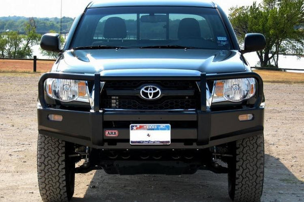 ARB 3423030 Toyota Tacoma 2005-2011 Deluxe Front Bumper Winch Ready with Grille Guard, Black Powder Coat Finish
