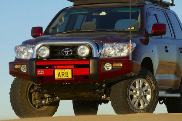 ARB 3915040 Toyota Land Cruiser 2007-2011 Sahara Bar Front Bumper 200 Series Winch Ready with Hoop