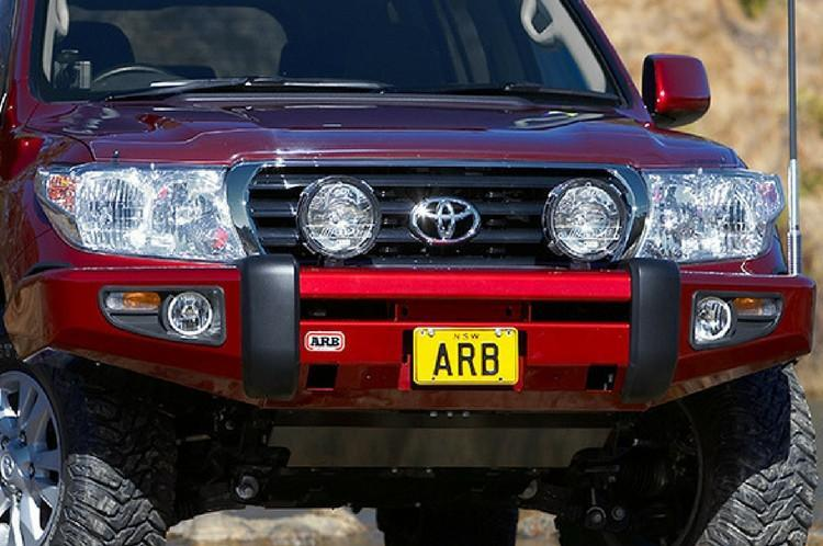ARB 3915050 Toyota Land Cruiser 2007-2011 Sahara Bar Front Bumper 200  Series Winch Ready with Hoop