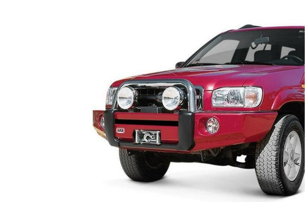 ARB 3938040 Nissan Pathfinder 2000-2002 Sahara Bar Front Bumper Winch Ready with Hoop