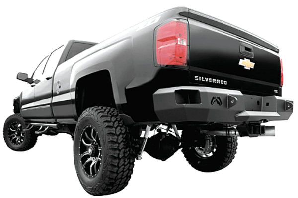 Fab Fours CH99-W1250-1 Chevy Silverado 2500/3500 1999-2007 Premium Rear Bumper Without Sensor