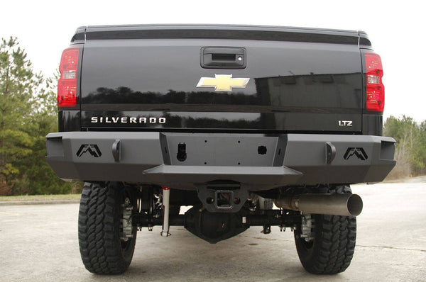 FabFours Premium Truck Rear Bumper 2015-2016 CHEVY/GMC HD CH14-W3050-1 - BumperOnly
