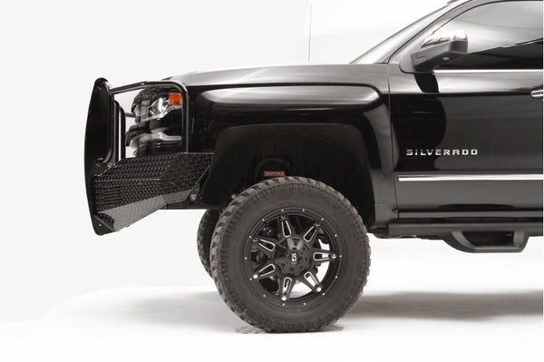 Fab Fours Chevy Silverado 1500 2016-2017 Front Bumper Full Guard with Tow Hooks CS16-K3860-1