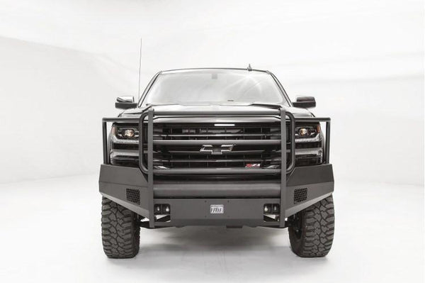 Fab Fours Chevy Silverado 1500 2016-2017 Front Bumper Full Guard with Tow Hooks CS16-R3860-1
