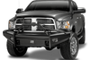 Fab Fours DR06-Q1162-1 Front Bumper Dodge Ram 2500/3500 2006-2009 Pre-Runner Guard with Tow Hooks Black Steel Elite