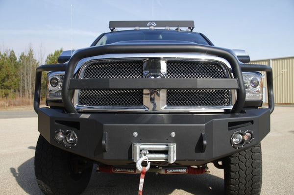 Fab Fours Premium Full Guard Front Bumper 2010-2018 Dodge Ram 2500-5500 DR10-A2950-1