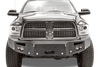 FabFours PREMIUM No Guard Truck Front Bumper 2010+ DODGE 2500-5500 DR10-A2951-1 - BumperOnly