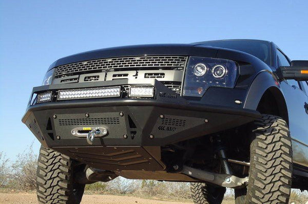 ADD F011052520103 Ford F-150 Raptor 2010-2014 Stealth Fighter Front Bumper W/ Winch Mount and Side Black Panels - BumperOnly