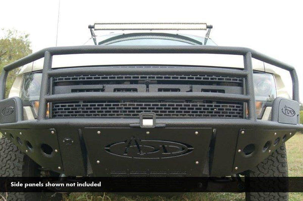 ADD F012542680103 Ford F150 Raptor 2010-2014 Rancher Front Bumper Multiple LED Light Mount Hammer Black - BumperOnly