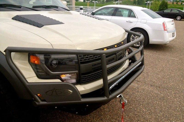 ADD F012562680103 Ford F-150 Raptor 2010-2014 Rancher Winch Front Bumper and 40'' Light Bar and 20'' Light Bar in Skid Plate Mount - BumperOnly