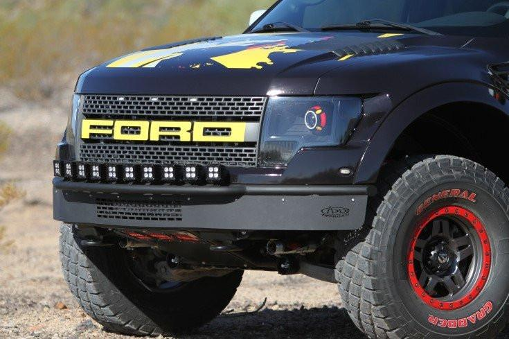 Add F014412900103 Ford F150 Raptor 2010 2014 Race Series R Front Bumper Plastic Valence With Mount For 10 Single Lights On Top And 20 Led Mount In