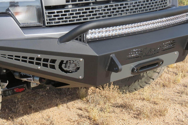 ADD F017275050103 Ford F150 Raptor 2010-2014 Honeybadger Front Bumper W/ Winch Mount and Multiple LED Light Mounts - BumperOnly