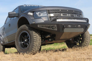 ADD F017285050103 Ford F150 Raptor 2010-2014 Honeybadger Front Bumper In Hammer Black with Satin Black Panels