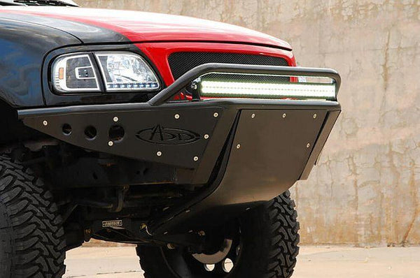 ADD F024011150103 1997 - 2003 Ford F-150 Stealth Front Bumper With Stealth Panels And Led Light Mount - BumperOnly