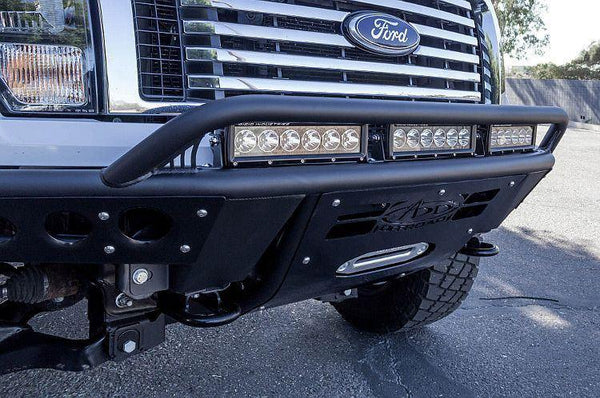 ADD F053782880103 2009-2014 Ford F-150 Stealth R Front Bumper With Winch And Light Bar Mounts - BumperOnly