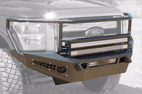 ADD F067335010103 2011 - 2016 Ford F-250/350 HoneyBadger Rancher Front Bumper With Light Bar Mounts - BumperOnly