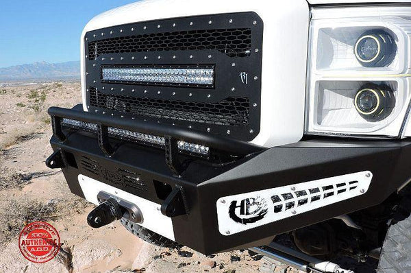 ADD F067355000103 2011 - 2016 Ford F-250/F-350 HoneyBadger Front Bumper With Winch Mount And Light Mounts - BumperOnly