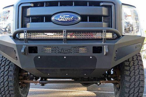 ADD F067405030103 2011 - 2016 Ford F-250/F-350 HoneyBadger Front Bumper  With Storage Boxes And Light Mounts - BumperOnly