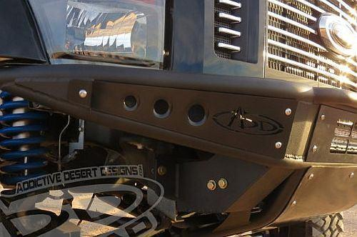 ADD F072001250103 2008 - 2010 Ford F-250/F350 Venom Front Bumper With Stealth Panels And Light Bar Mount In Skid - BumperOnly