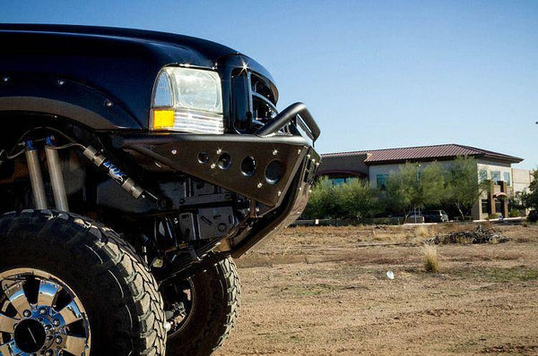 ADD F093192400103 1999 - 2007 Ford F-250/350 Stealth Front Bumper With Stealth Panels And Light Bar Mounts - BumperOnly