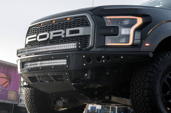"ADD F112492820103 Ford F150 Raptor 2017 Venom ""R"" Front Bumper With LED Light Mounts and Vents for intercooler - BumperOnly"