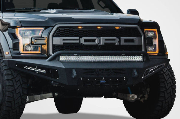 ADD F117432860103 Ford F150 Raptor Honeybadger 2017-2020 Front Bumper with Eco-Boost Venting and 40'' LED Light Bar Mounts