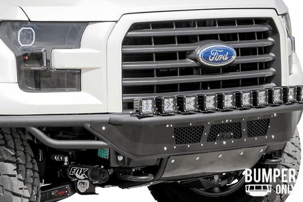 ADD F154582950103 2015-2017 Ford F150 Race Series R Front Bumper With Aluminum Front Valance Panel 10 Single Light Mounts