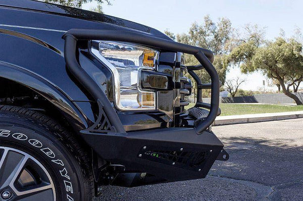 ADD F157395050103 2015 - 2017 Ford F-150 HoneyBadger Rancher Front Bumper With Light Mounts - BumperOnly