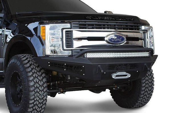ADD F167382840103 2017 Ford F-250/F-350 Honeybadger Front Bumper Winch Ready And Light Mounts - BumperOnly