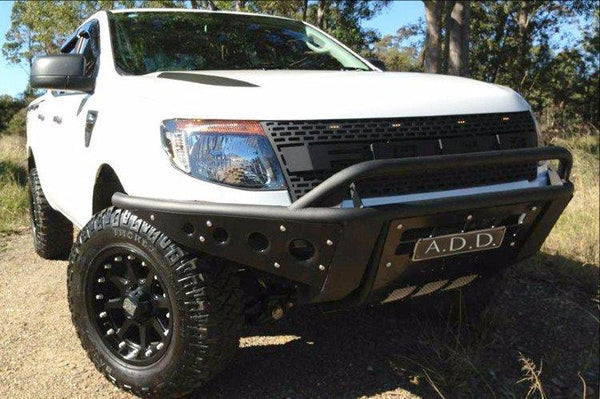 ADD F253442650103 2011 - 2016 Ford Ranger T6 Stealth Front Bumper With Stealth Panels And Light Mounts - BumperOnly