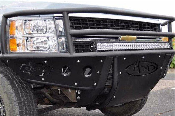 ADD F312552680103 Chevy Silverado 2500/3500Hd 2007-2010 Rancher Front Bumper W/Light Mounts - BumperOnly