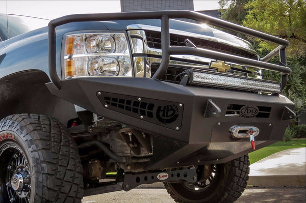 ADD F317375010103 Chevy Silverado 2500 2007-2010 Honeybadger Rancher Front Bumper W/ Winch Mount - BumperOnly