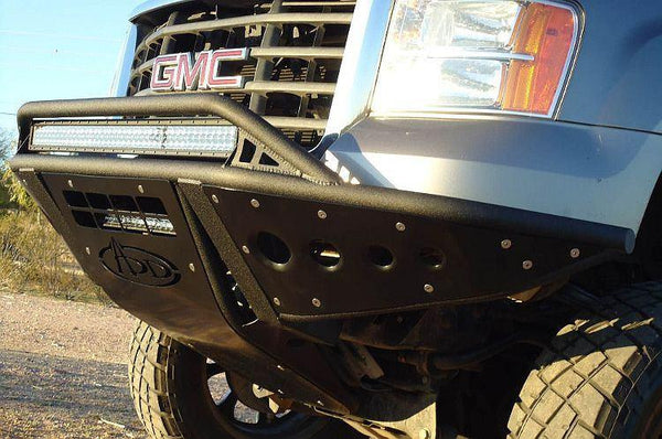 ADD F403182460103 GMC Sierra 2500/3500 2007-2010 Hd Stealth Front Bumper With Light Mounts - BumperOnly