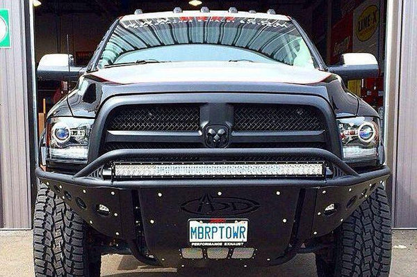 ADD F503212480103 2009-2016 Ram 1500 Ecodiesel Stealth Front Bumper W/Light Mounts(Fits EcoDiesel) - BumperOnly