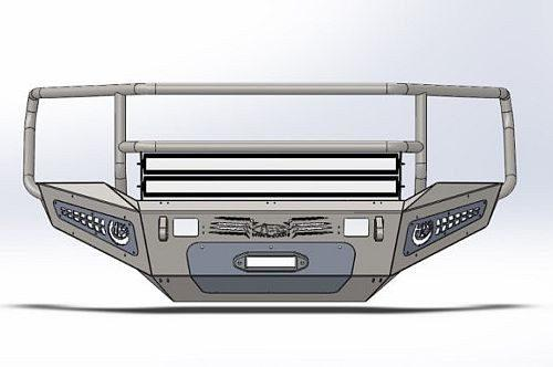 ADD F517335010103 Honeybadger 2010-2016 Ram 2500/3500 Rancher Front Bumper Non-Winch - BumperOnly
