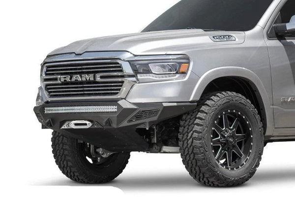 ADD F551422770103 Dodge Ram 1500 2019-2020 Stealth Fighter Front Bumper with Sensor Cutouts Winch Ready