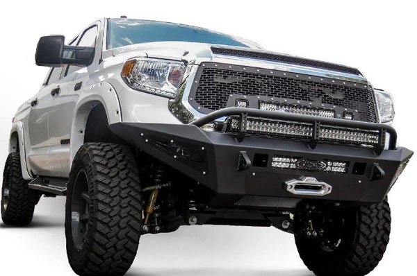 2014 - UP TOYOTA TUNDRA HONEYBADGER FRONT BUMPER W/ WINCH MOUNT - BumperOnly