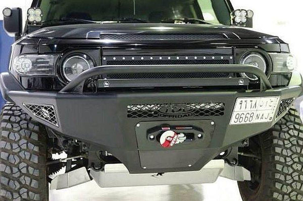 ADD F801652660103 2007 - 2014 Fj Cruiser Stealth Fighter Front Bumper W/ Winch Mount and Light Mounts - BumperOnly