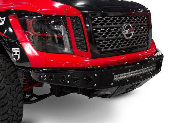 ADD F912472810103 2016-2018 Nissan Titan Venom R Front Bumper W/Light Mounts - BumperOnly