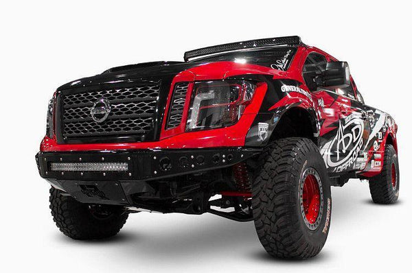 ADD F912472810103 2016-2017 Nissan Titan Venom R Front Bumper W/Light Mounts - BumperOnly