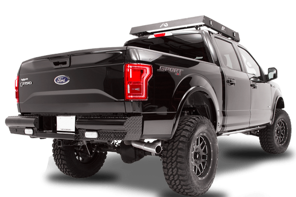 Fab Fours FF09-T1750-1 Rear Bumper Ford F150 2009-2014 Black Steel