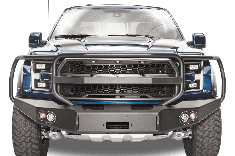 Fab Fours Ff17 H4350 1 Ford F150 Raptor 2017 2019 Premium Front Bumper Winch Ready With Full Guard