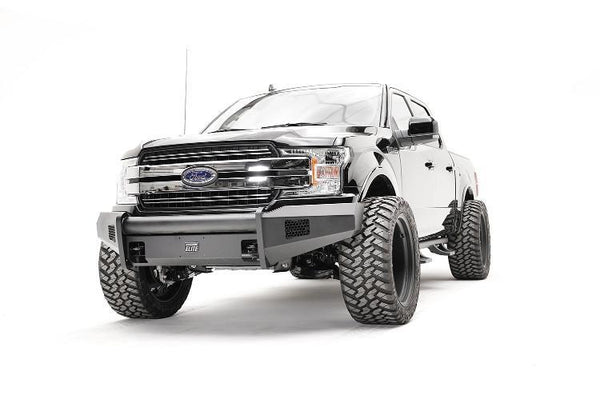 Fab Fours FF18-R4561-1 Black Steel Elite Ford F150 Front Bumper 2018